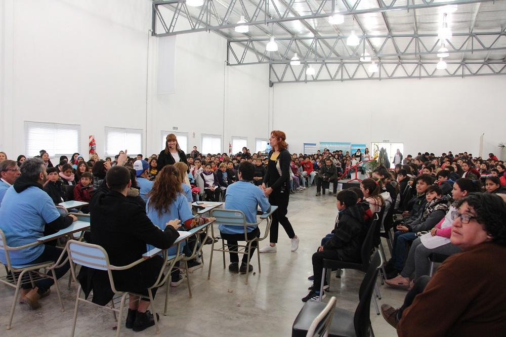 Cáffaro participó en el encuentro masivo del Programa Ciudad Rayuela en el CGC