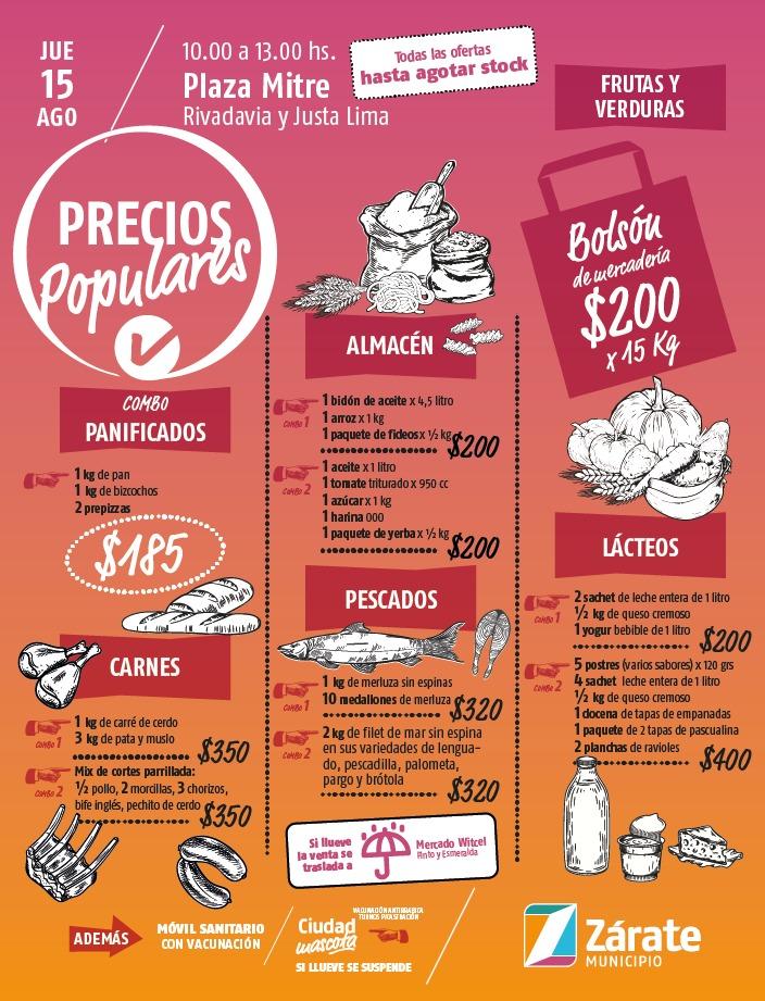 Precios Populares vuelve a Plaza Mitre
