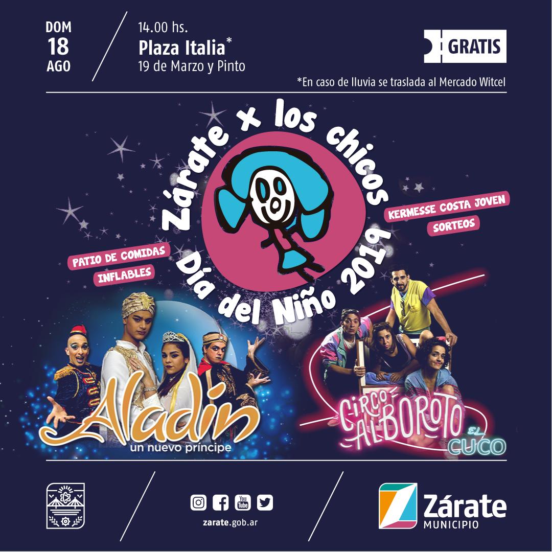 El Municipio festeja elDíadelNiñoen Zárate y Lima