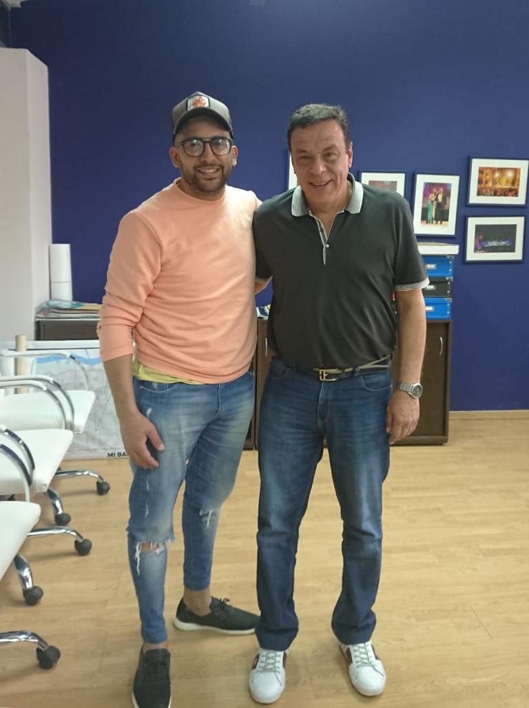 """Cáffaro se reunió con el referente de """"Peluqueros Solidarios"""""""