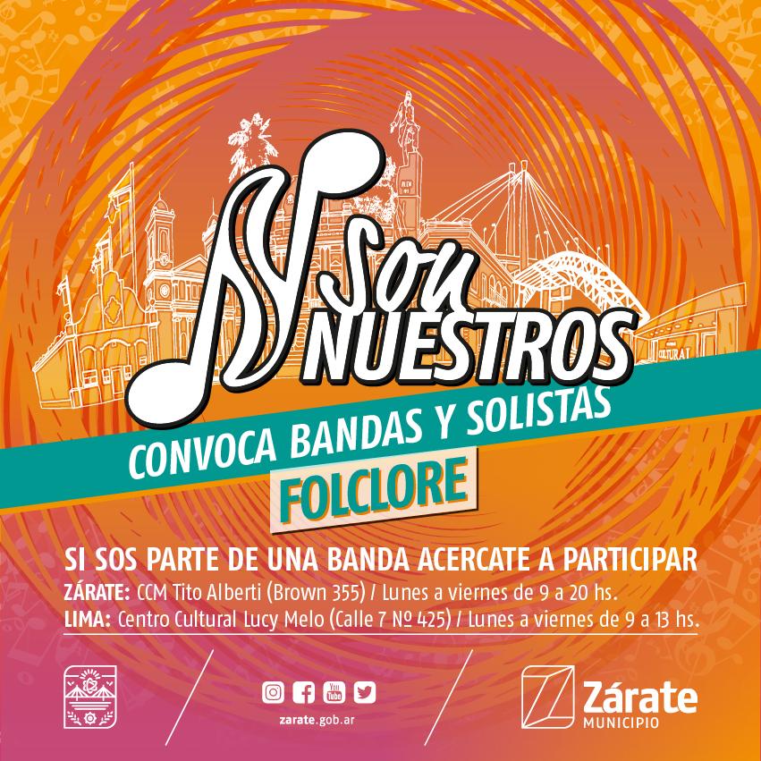 """Comienza la edición 2019 de """"Son Nuestros"""": Municipio convoca a artistas de Zárate y Lima"""