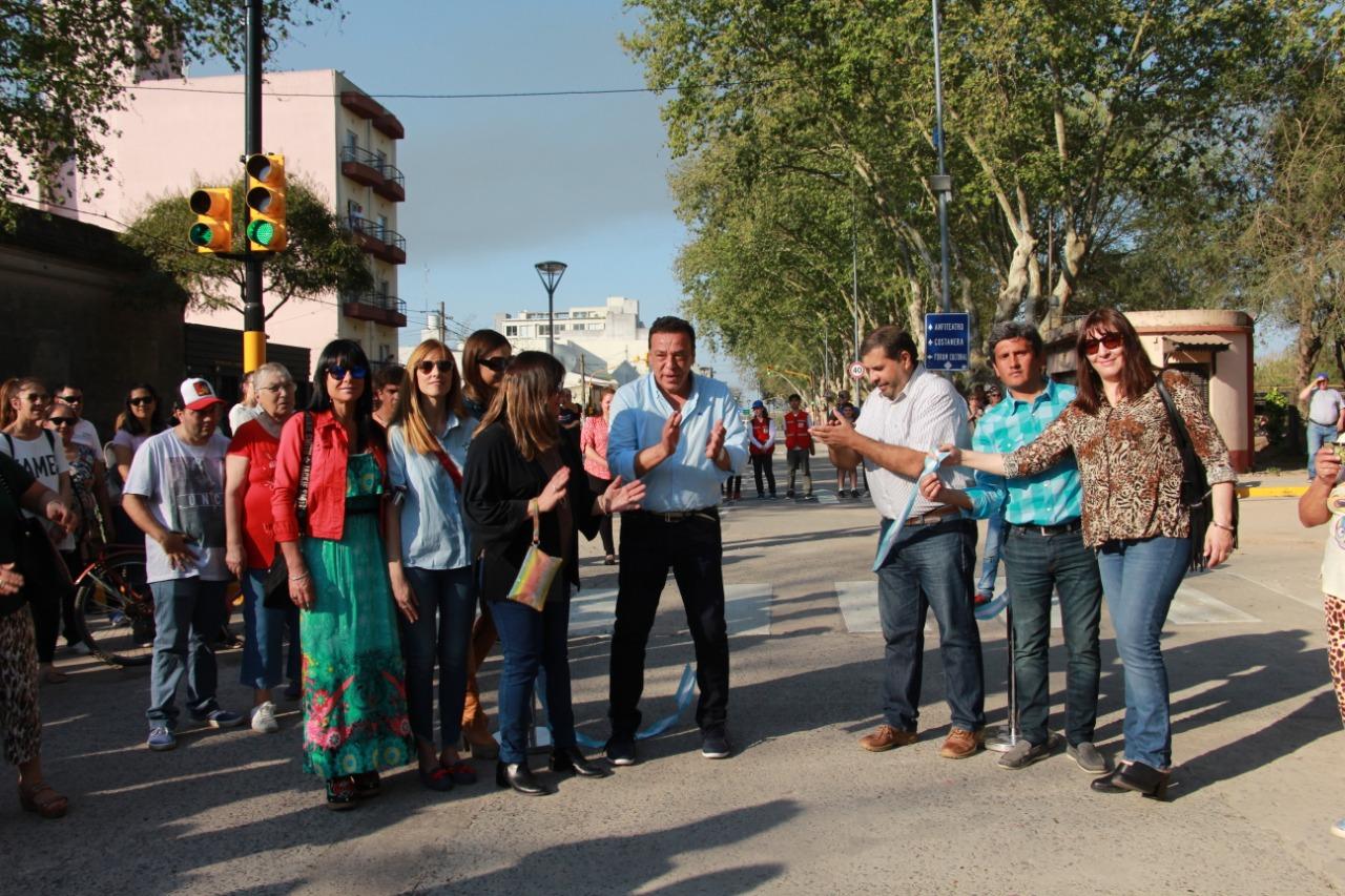 Cáffaro inauguró la avenida Mitre