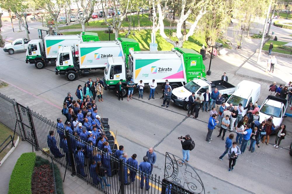 Municipio y ENTRE SRL presentaron el nuevo sistema de recolección de residuos domiciliarios y barrido de calles