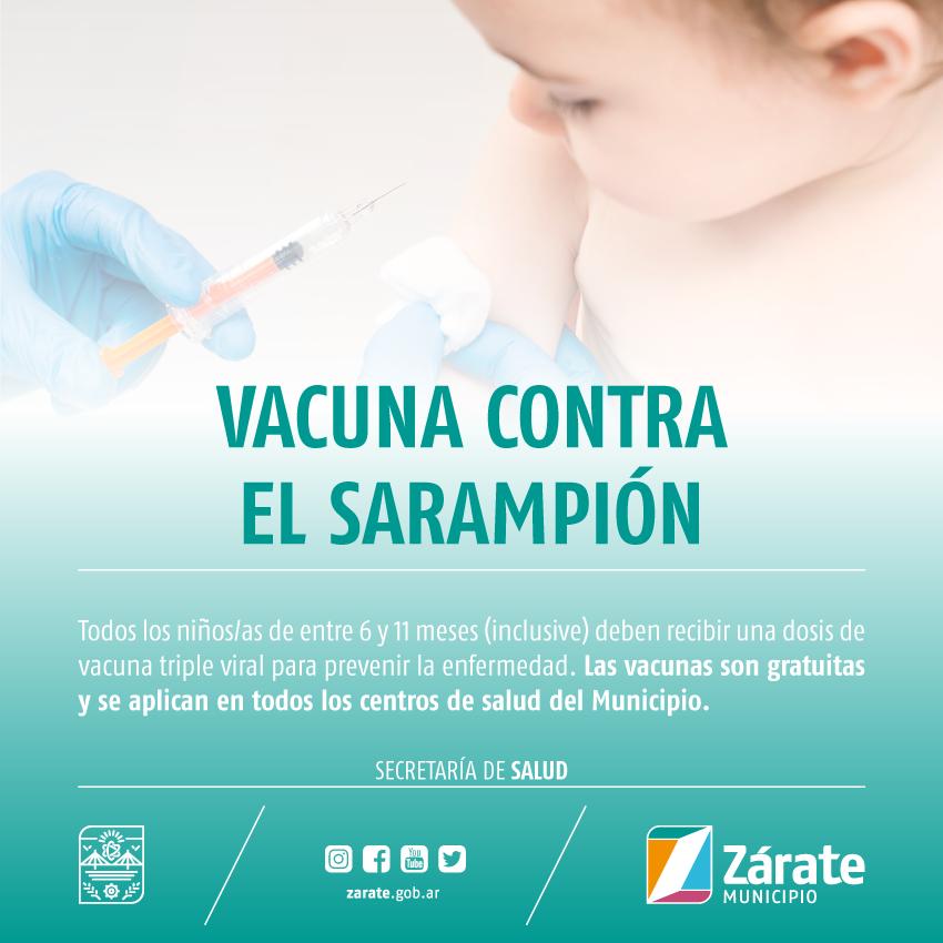 Promueven la aplicación de la vacuna triple viral para evitar propagación delsarampión