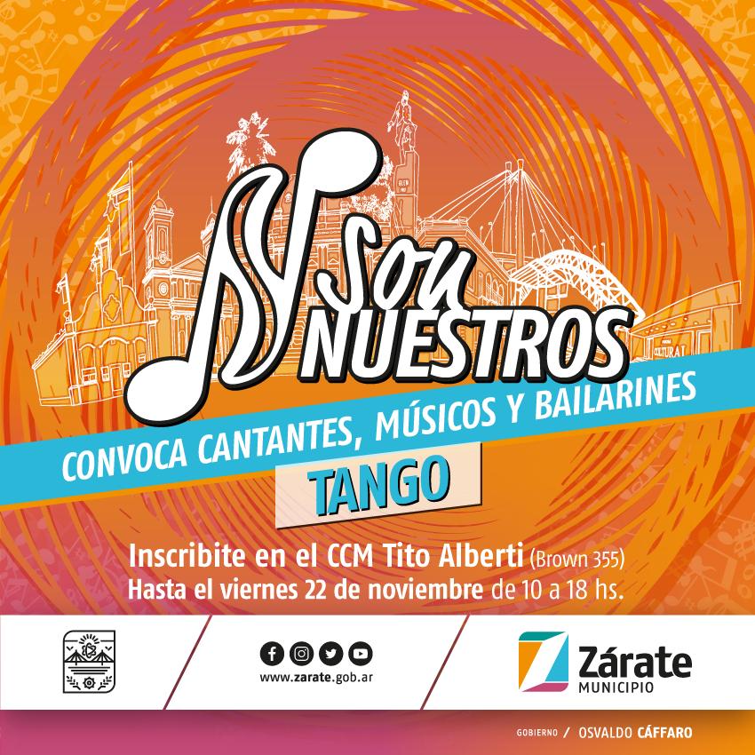 """Municipio abre la convocatoria a músicos para ser parte de """"Son Nuestros"""" Tango"""