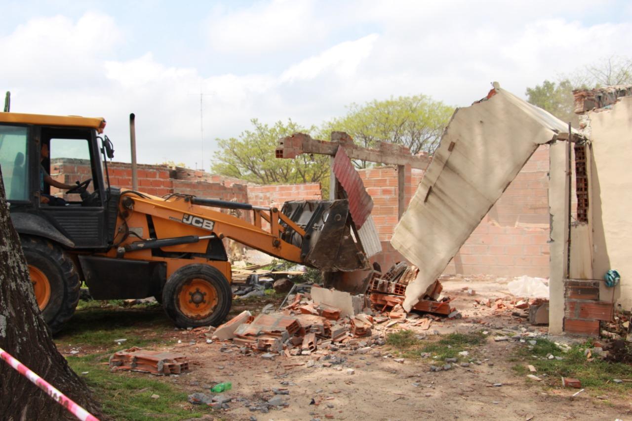 Continúa la relocalización de las familias que vivían en el Ex Cañadón del Urquiza