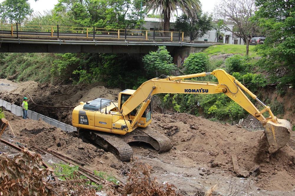 Avanza la obra de infraestructura dedesagüespluviales
