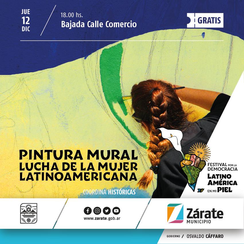 Se pintará un mural por la lucha de la mujer latinoamericana