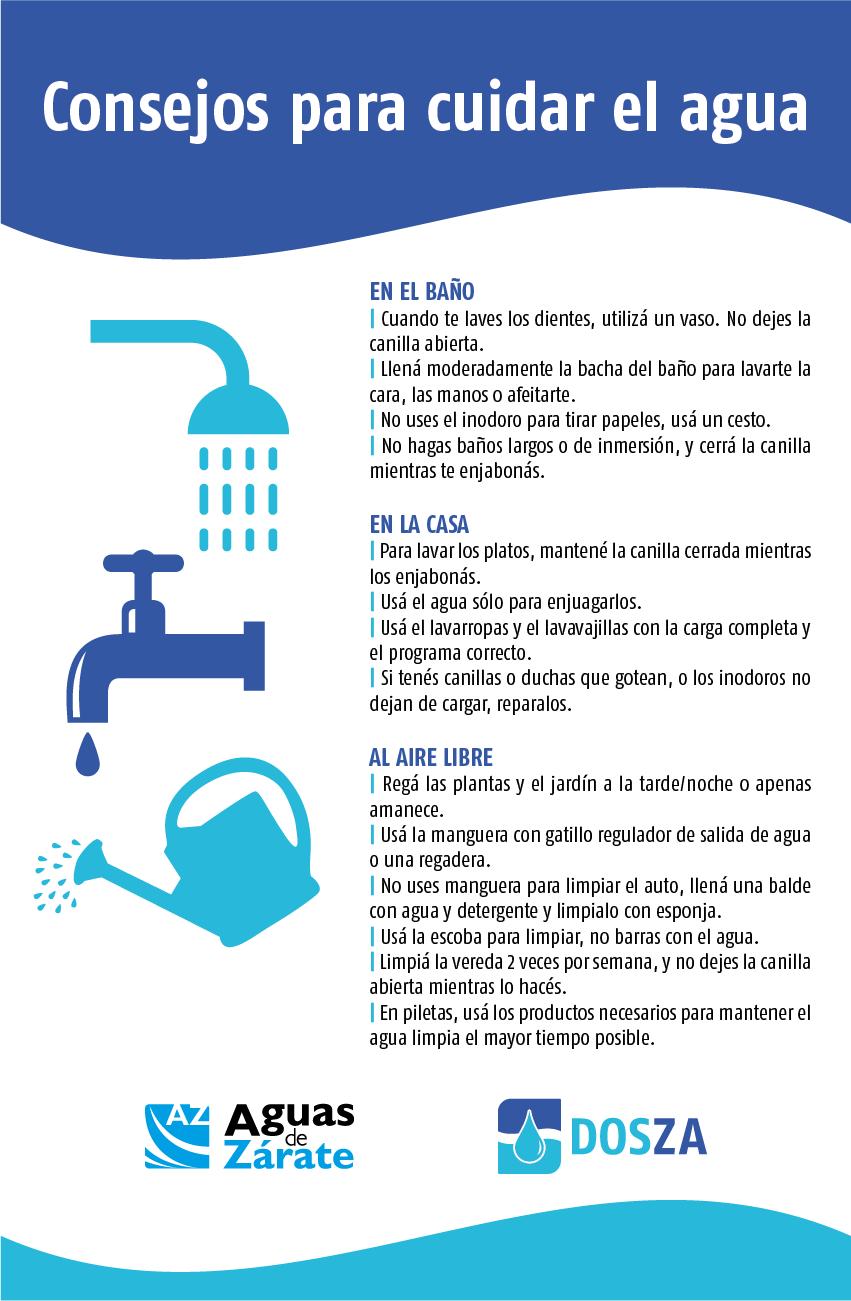 El Municipio de Zárate insta a la comunidad a cuidar el agua para el beneficio de todos