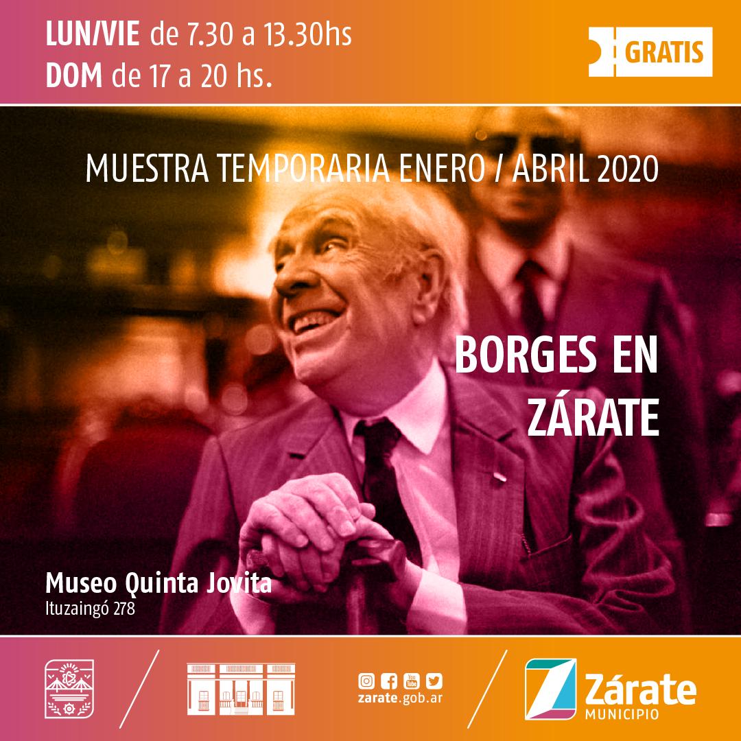 """Comienza la Muestra """"Borges en Zárate"""" en la Quinta Jovita"""