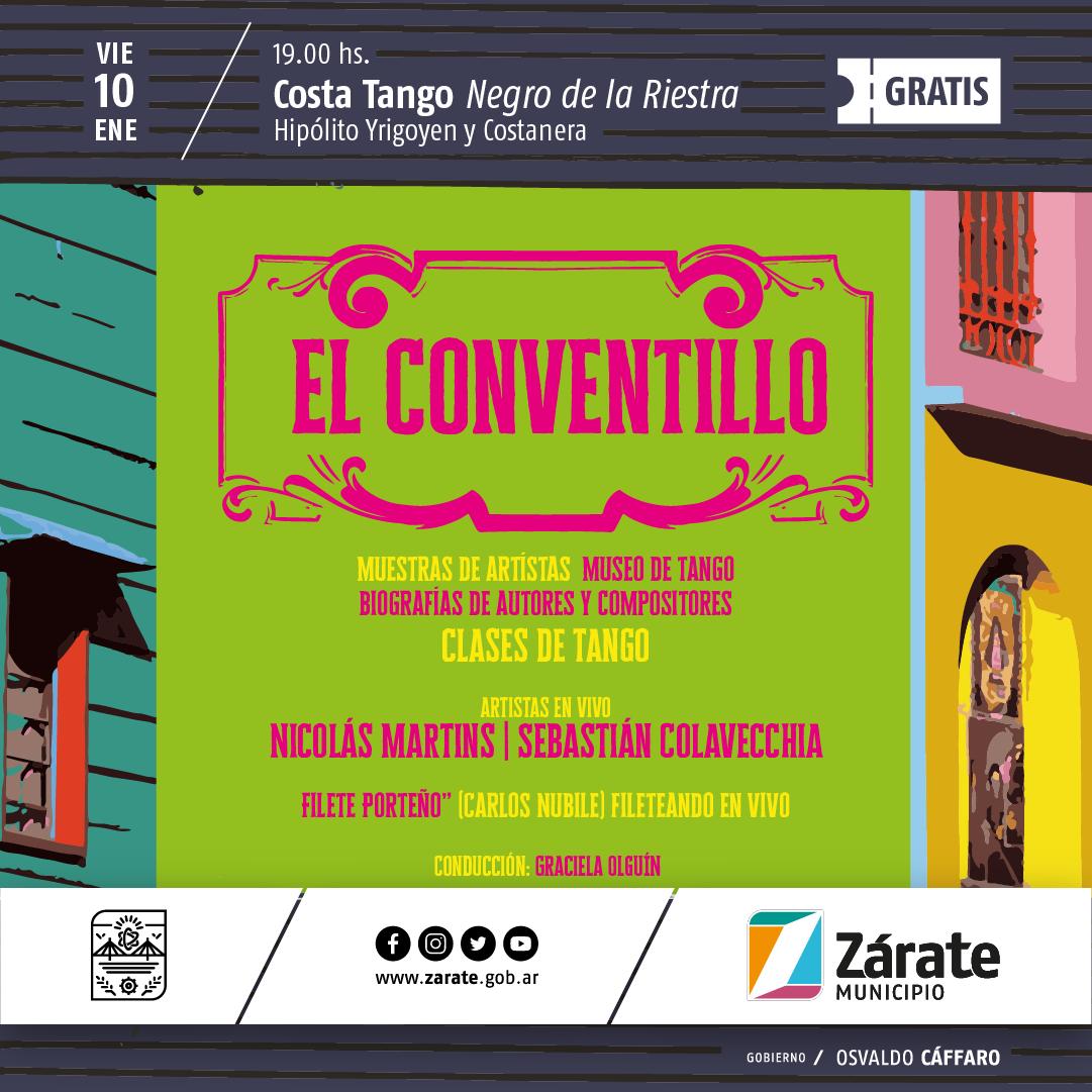 """Esta noche se presenta la cuarta edición del ciclo de Tango """"El Conventillo"""""""