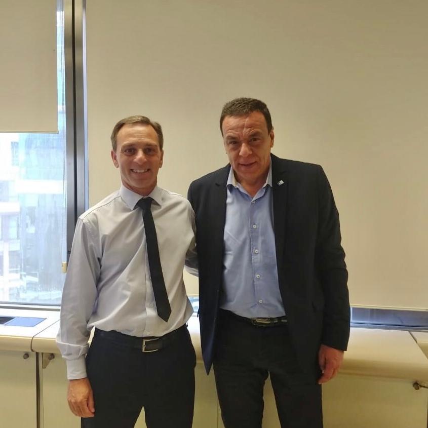 El Intendente Cáffaro se reunió con Pablo Delgado, miembro de AABE