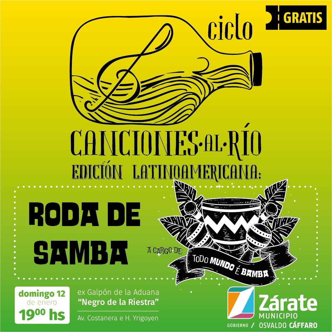 Continúa el Ciclo Canciones al Río: se presenta Roda de Samba