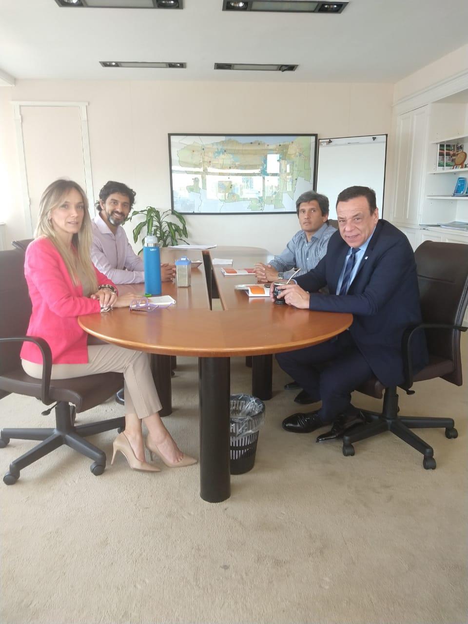El Intendente Caffaro se reunió con la Presidenta de AySA Malena Galmarini