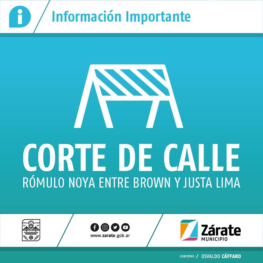 Permanecerá cerrado el tránsito en la calle Rómulo Noya por obras