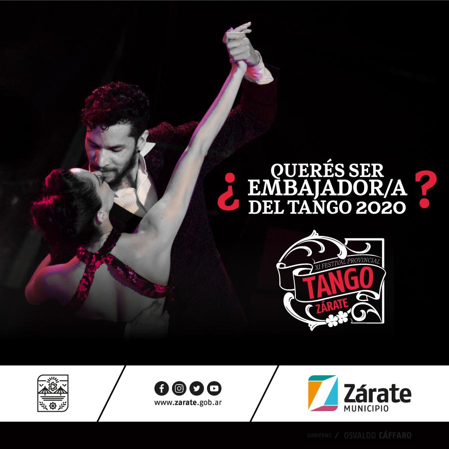 Municipio abre laconvocatoriapara ser Embajador y Embajadora del Tango 2020