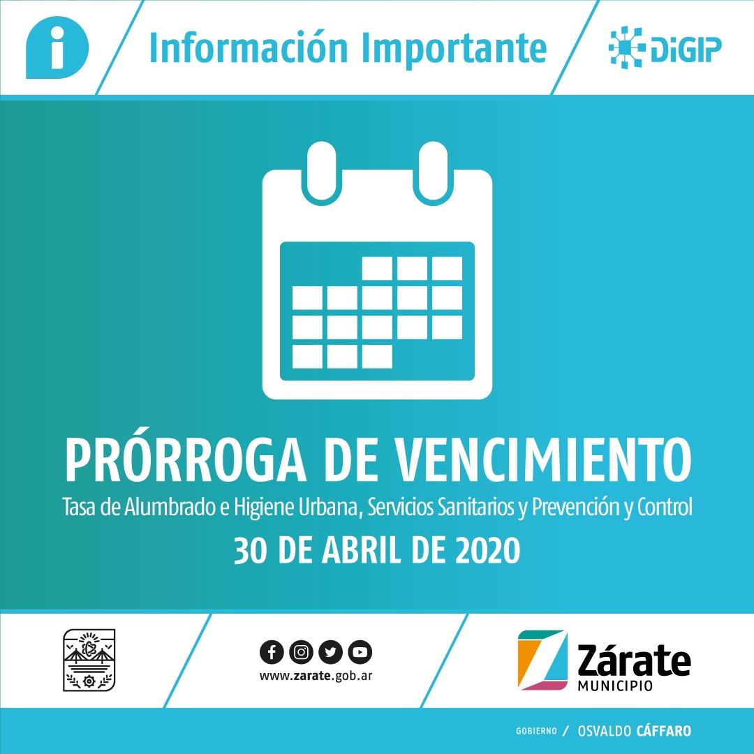 Se prorroga hasta el 30 de abril el vencimiento del pago de tasas municipales
