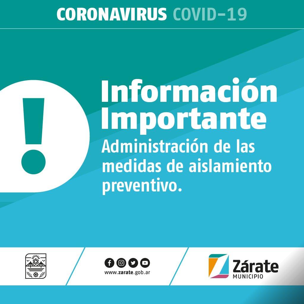 La Municipalidad de Zárate informa a la Comunidad: