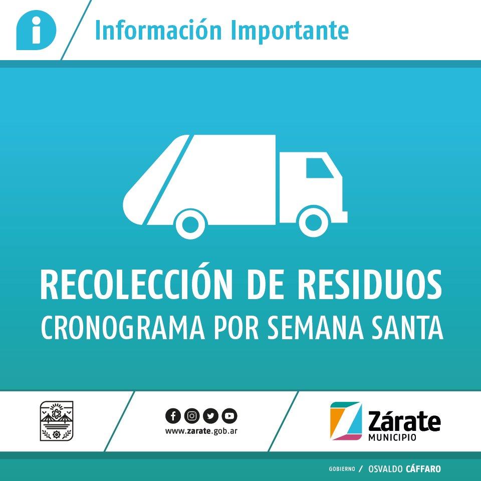 Cronograma de recolección de residuos