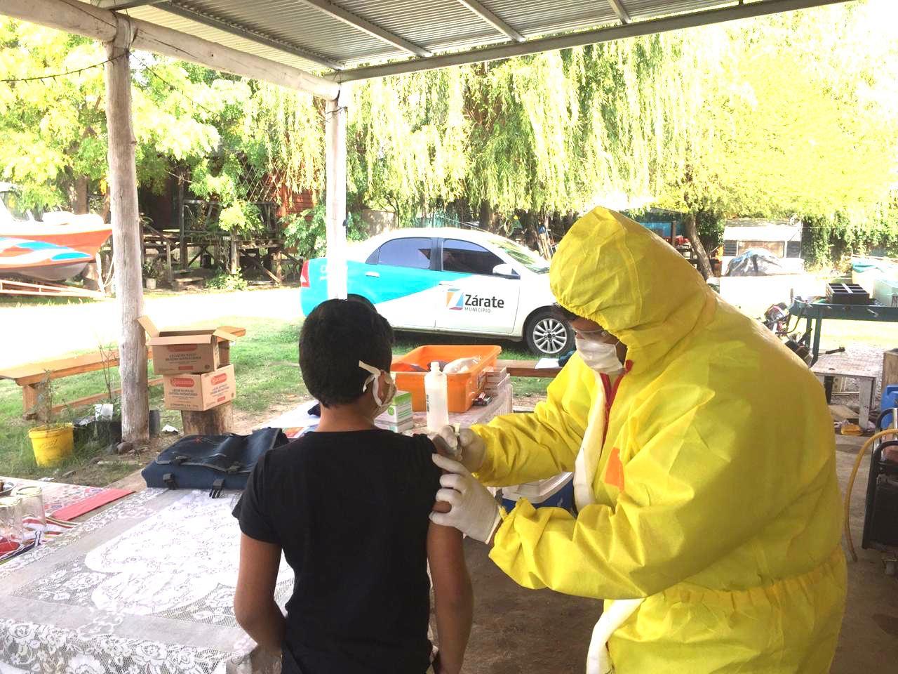 La Secretaría de Salud del Municipio de Zárate acercó la campaña de vacunación a Islas