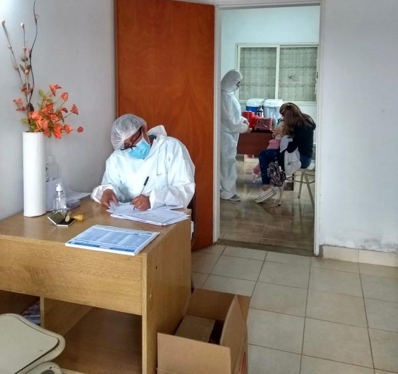 La Secretaría de Salud del Municipio de Zárate llevó la campaña de vacunación a Escalada