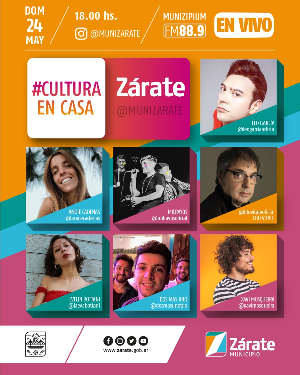 El Municipio te invita a disfrutar la sexta edición de #CulturaEnCasa