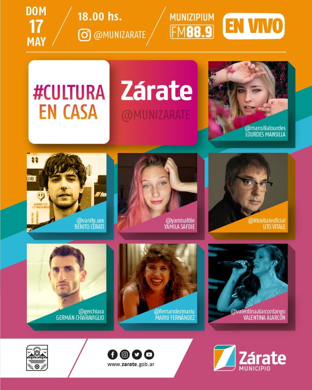 Este domingo se presenta la quinta edición de #CulturaEnCasa