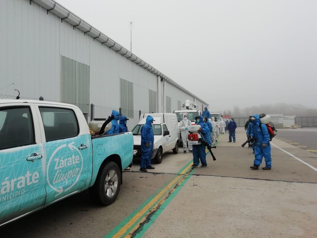 El municipio realizó un operativo de fiscalización de protocolo y de desinfección en la planta de Toyota