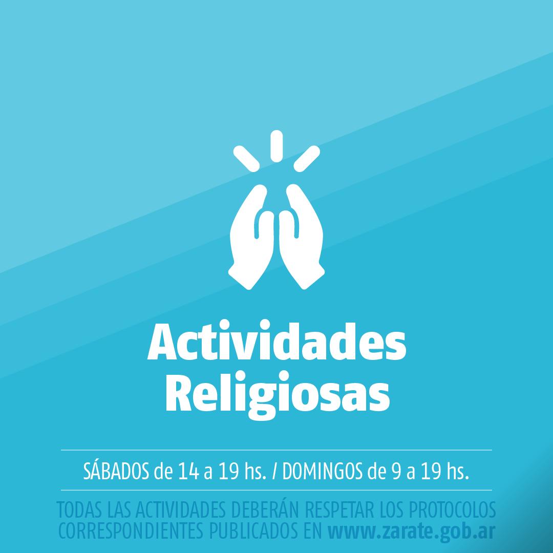 Municipio informa que pueden reanudarse las actividades religiosas bajo estricto protocolo sanitario emitido por el gobierno provincial