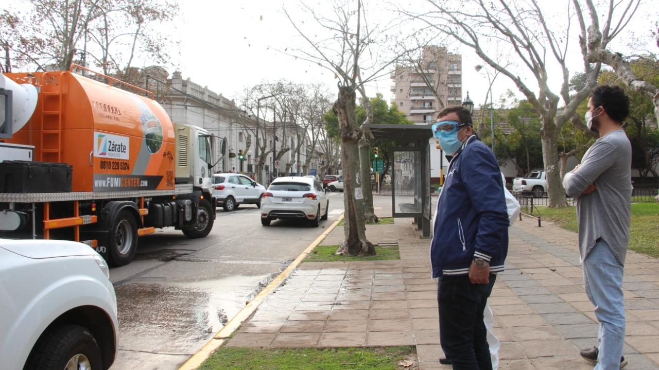 El Municipio refuerza tareas de desinfección y apela al cuidado individual de la comunidad