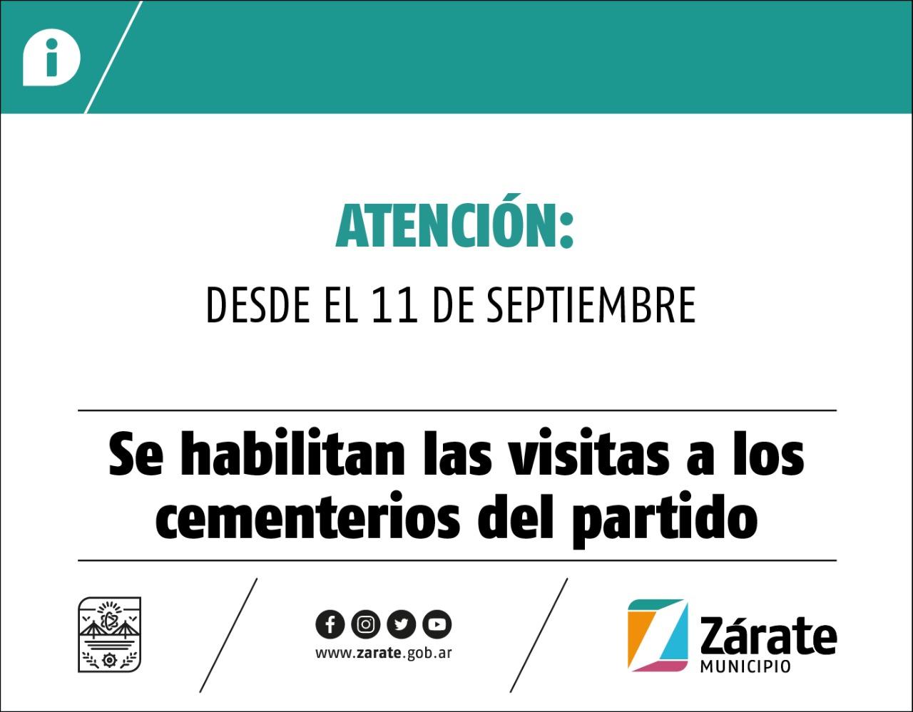 Cáffaro firmó el decreto para la apertura de los cementerios de Zárate y Lima