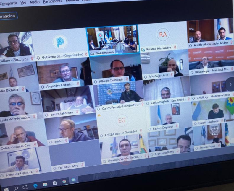 Cáffaro participó de la reunión virtual junto al gobernador Kicillof, en el lanzamiento del Programa Integral para la Reactivación Productiva Pospandemia