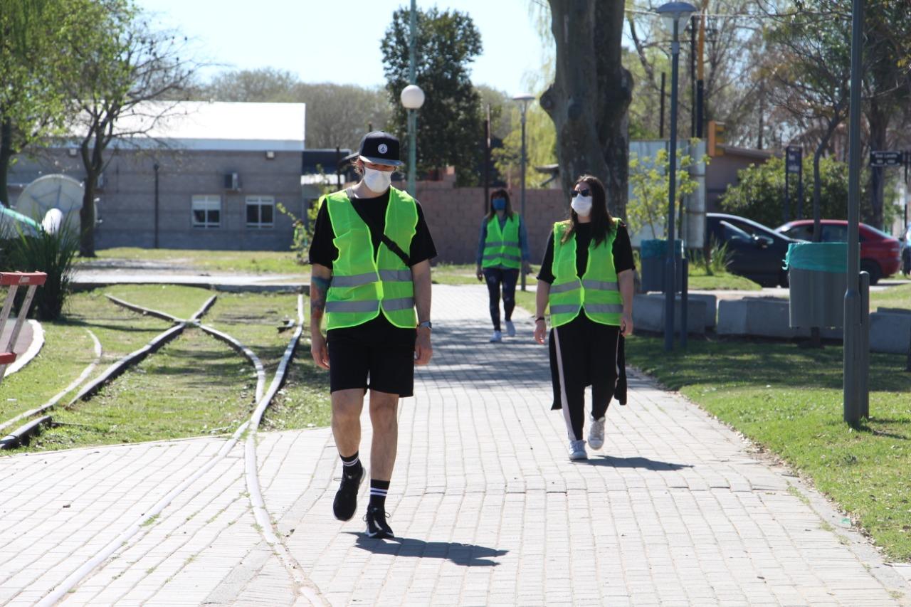 El Municipio efectuó controles para evitar reuniones en espacios públicos por el Día de la Primavera y del Estudiante