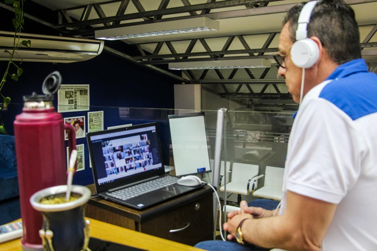 Programa Municipios de Pie: Cáffaro participó de una videoconferencia junto al presidente Alberto Fernández y más de 140 intendentes