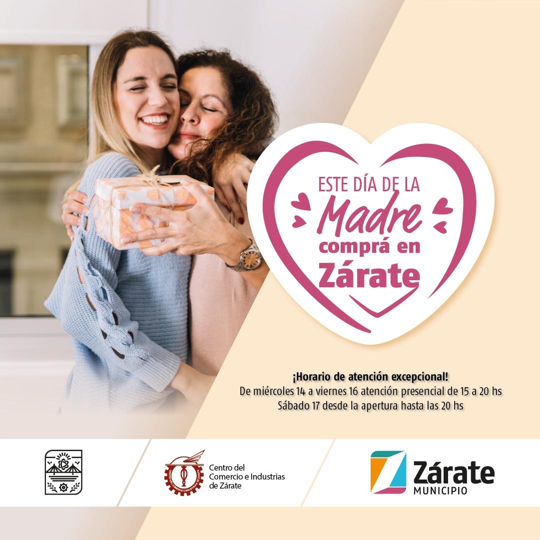 El Municipio informa que desde mañana, en los días previos al Día de la Madre, se habilita la extensión del horario de atención en los comercios del partido