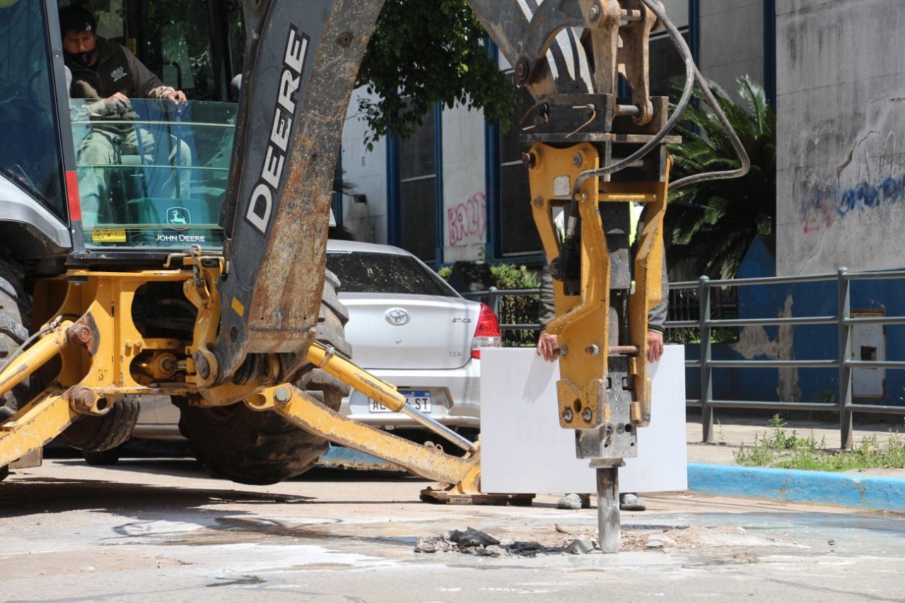 El Municipio de Zárate realizó tareas de ionizado y bacheo
