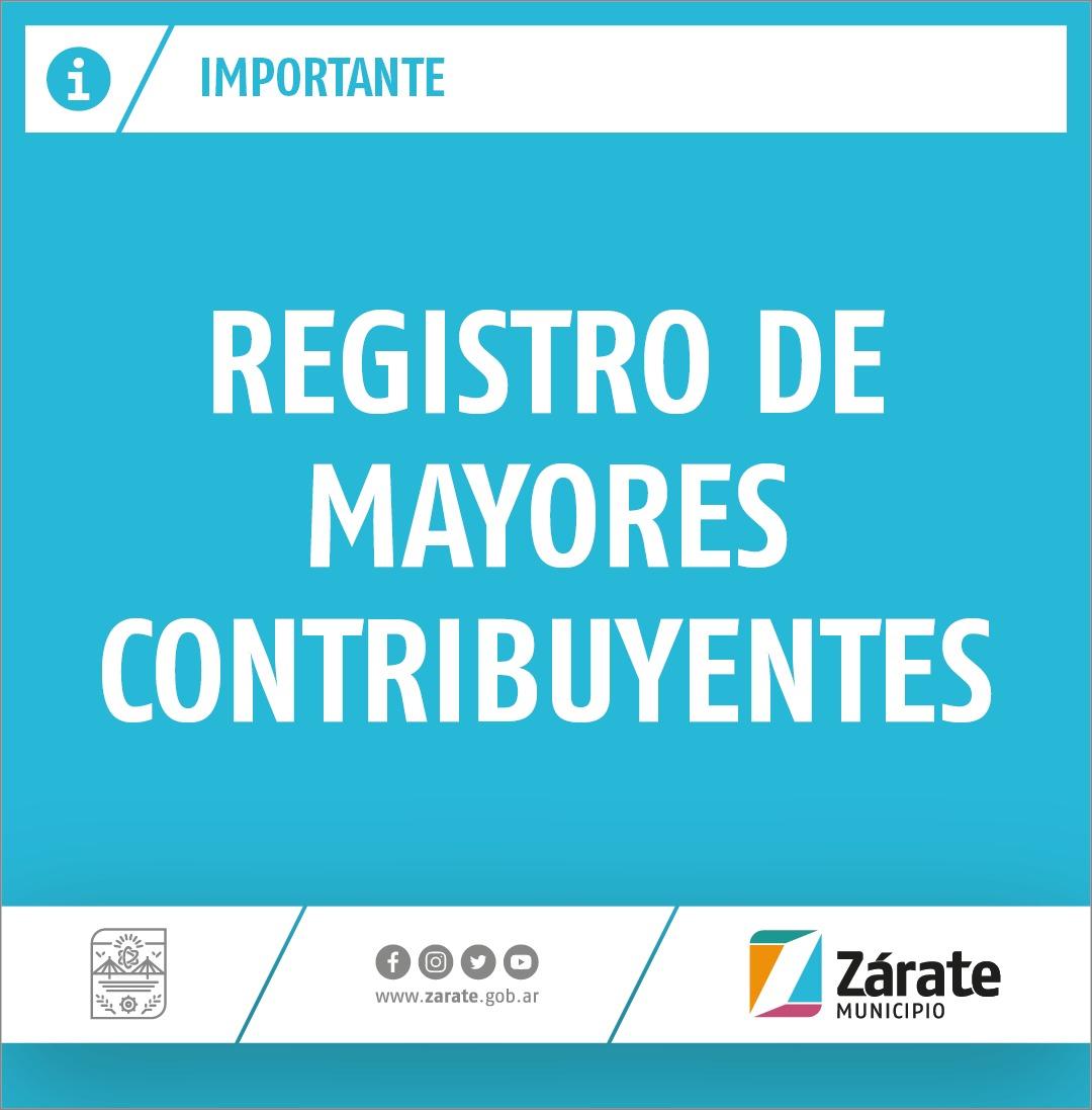 Se realizará la reapertura del Registro de Mayores Contribuyentes