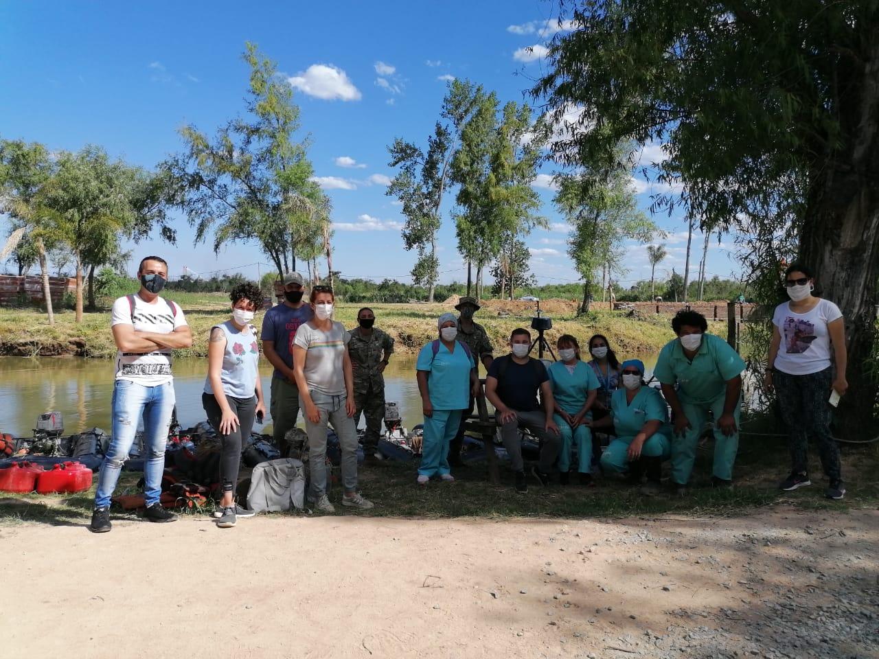 El Municipio y la Armada Argentina realizaron el sexto abordaje territorial del año en el sector isleño de Zárate