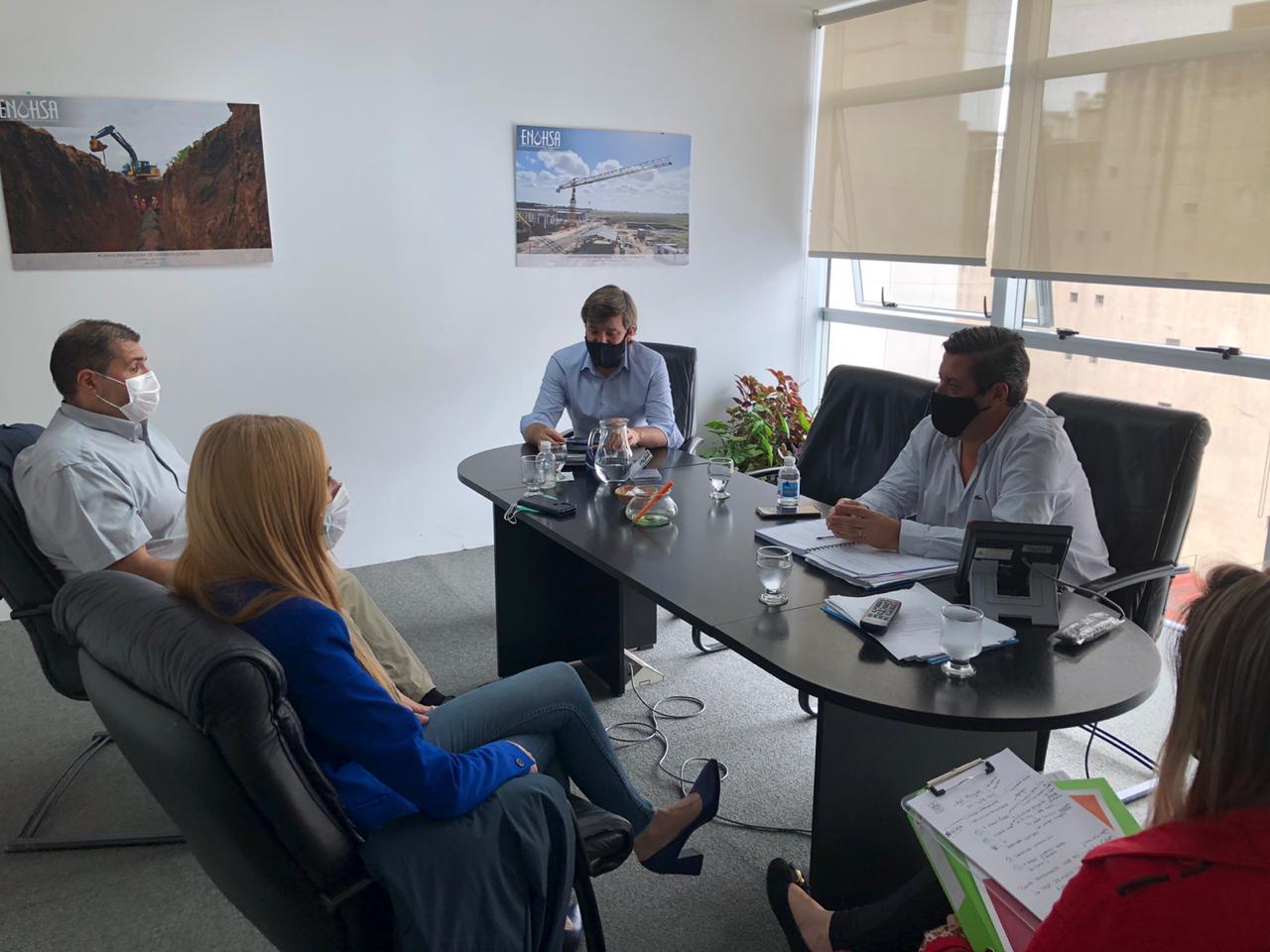 Municipio participó de una reunión con directivos del ENOHSA, para mejoras en materia de agua y cloacas
