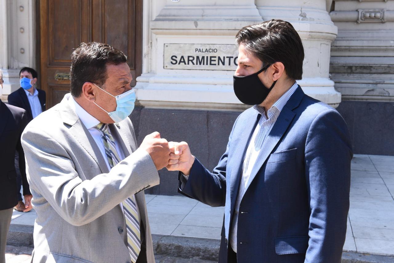 Cáffaro se reunió con el Ministro de Educación de la Nación, Nicolás Trotta
