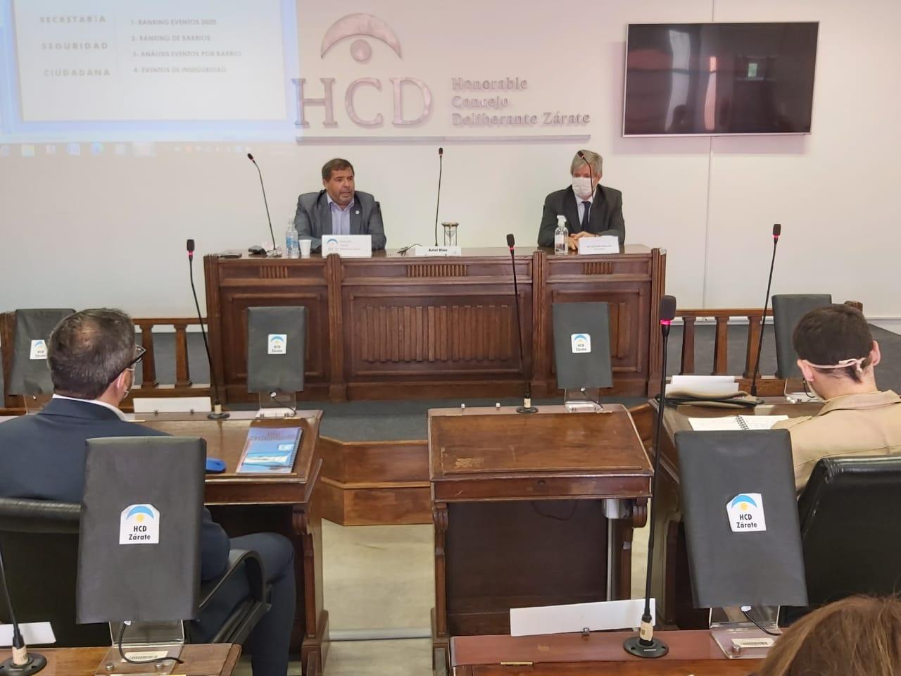 Se reunió el Consejo de Seguridad de Zárate en el Honorable Concejo Deliberante