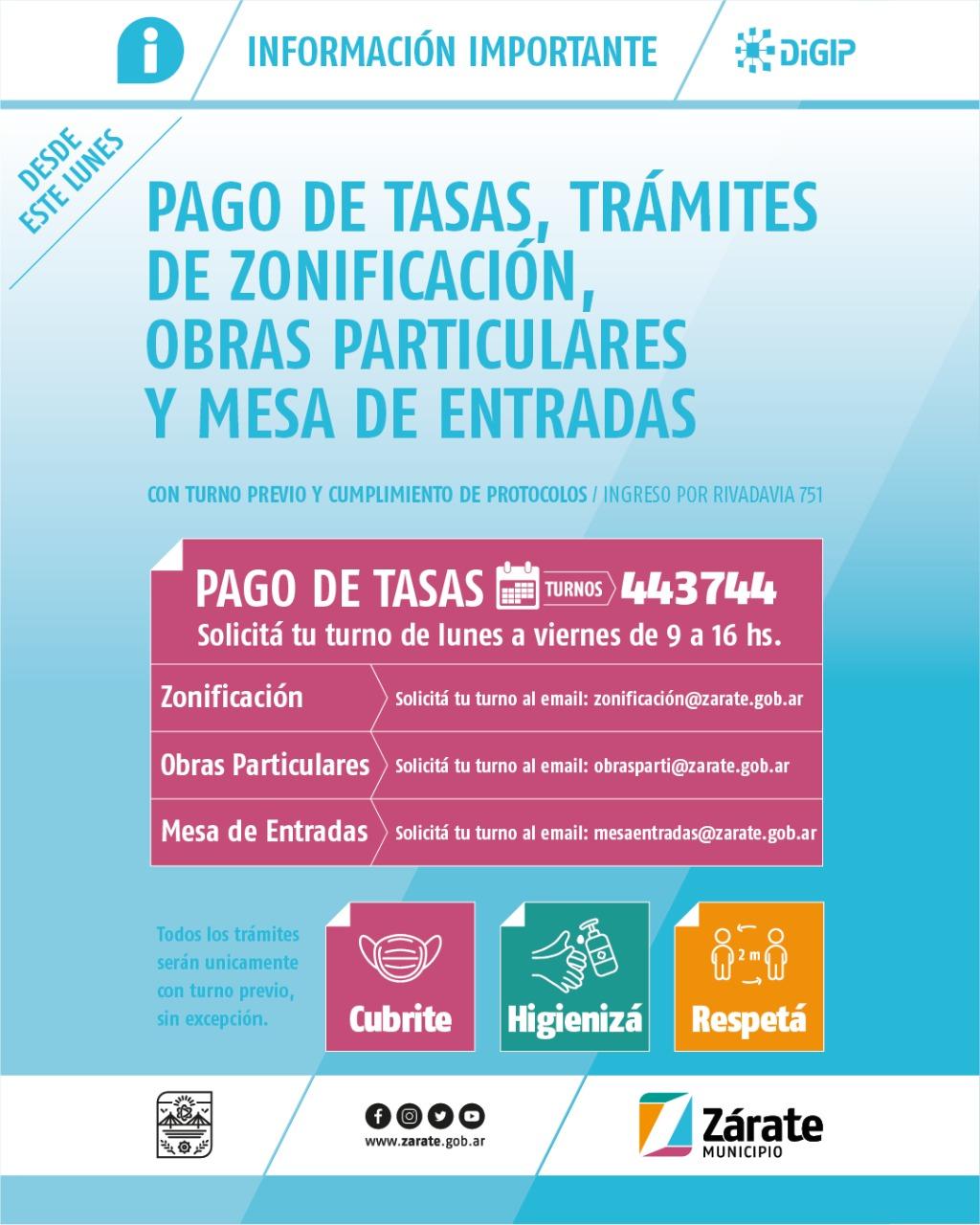 Zárate Municipio Informa: