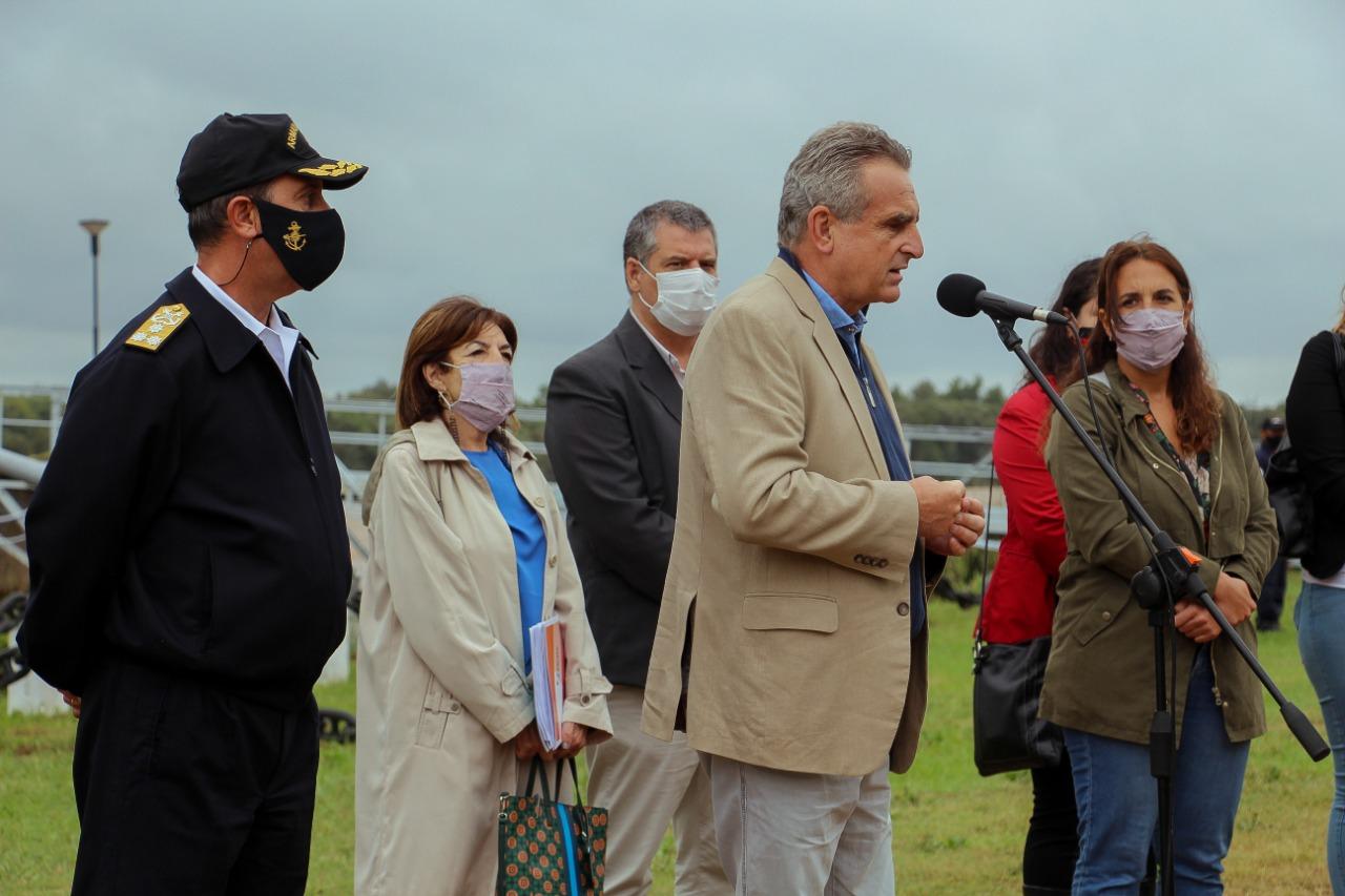 El Municipio acompañó al Ministro de Defensa, Agustín Rossi, en su visita a la Base Naval Zárate