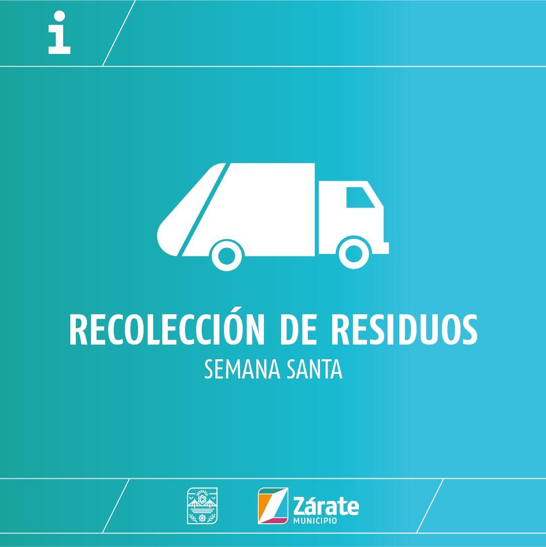 Cronograma de recolección de residuos por el feriado de Semana Santa