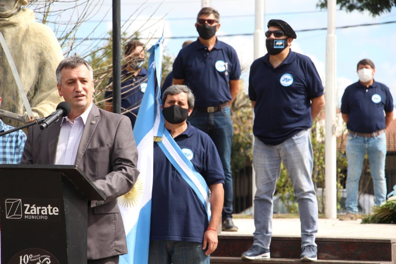 Zárate rindió homenaje a los Héroes de Malvinas