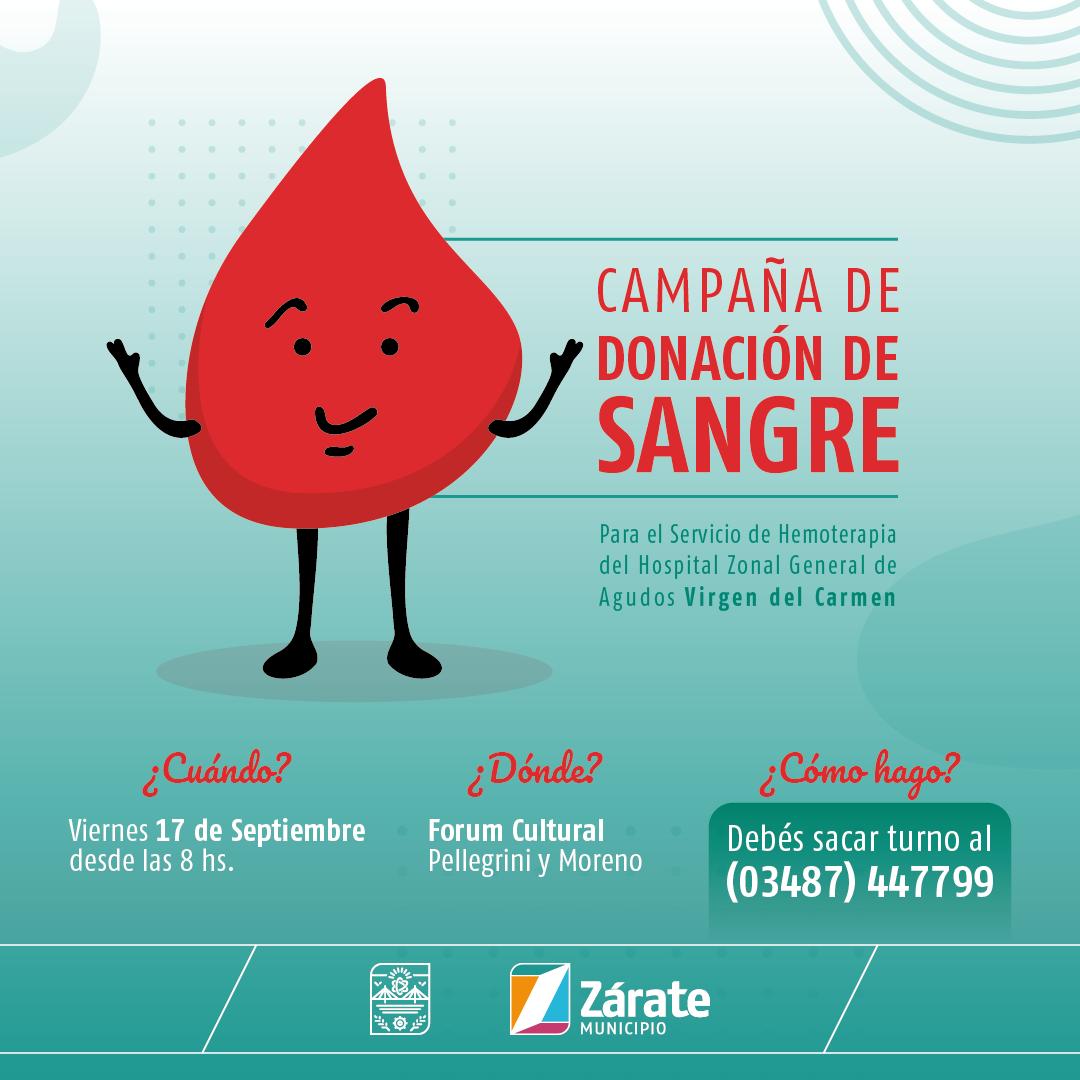 La Secretaría de Salud realizará una campaña de donación de sangre