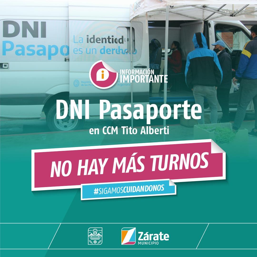 Se agotaron los turnos para la tramitación de DNI y pasaportes